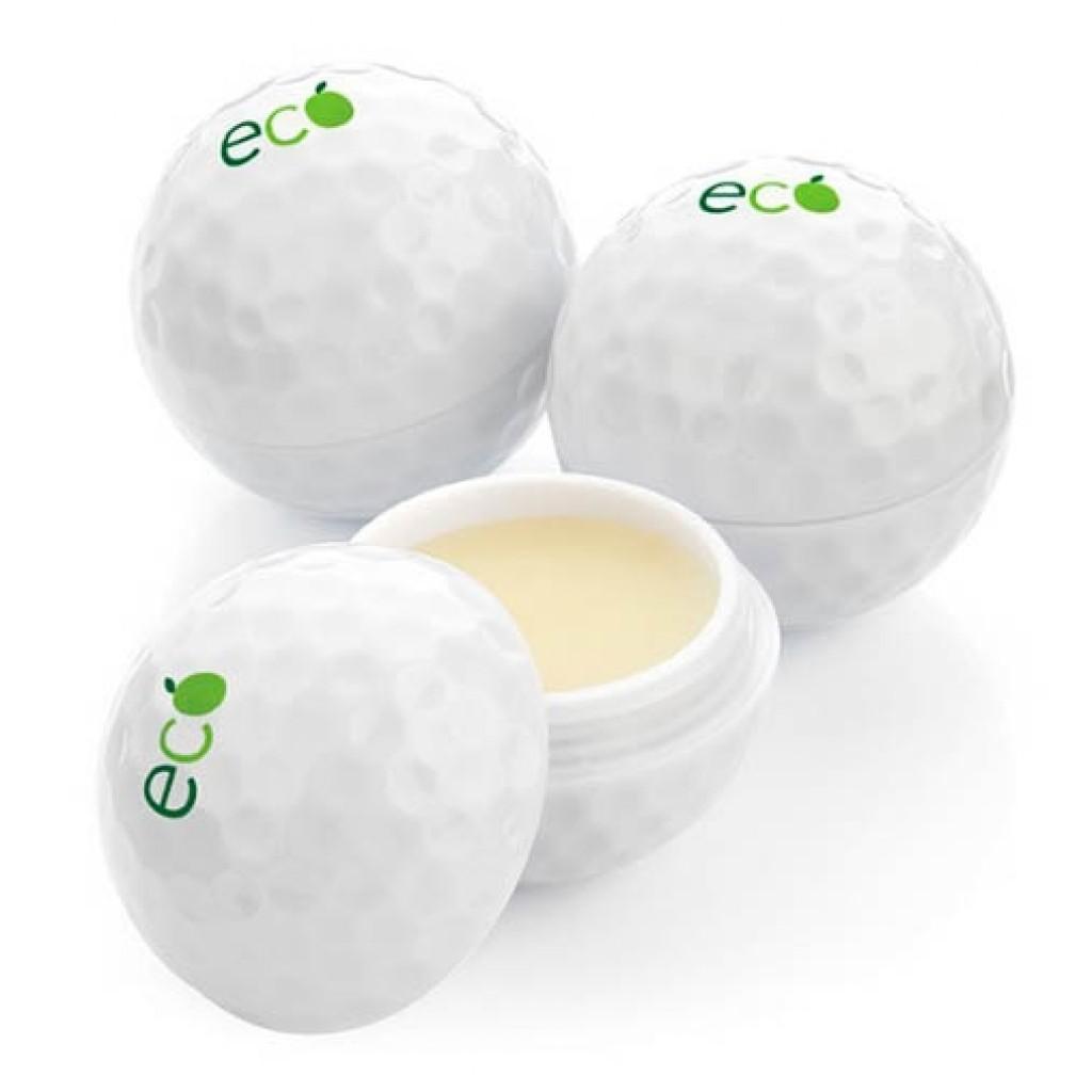 Golfball mit Lippenbalsam