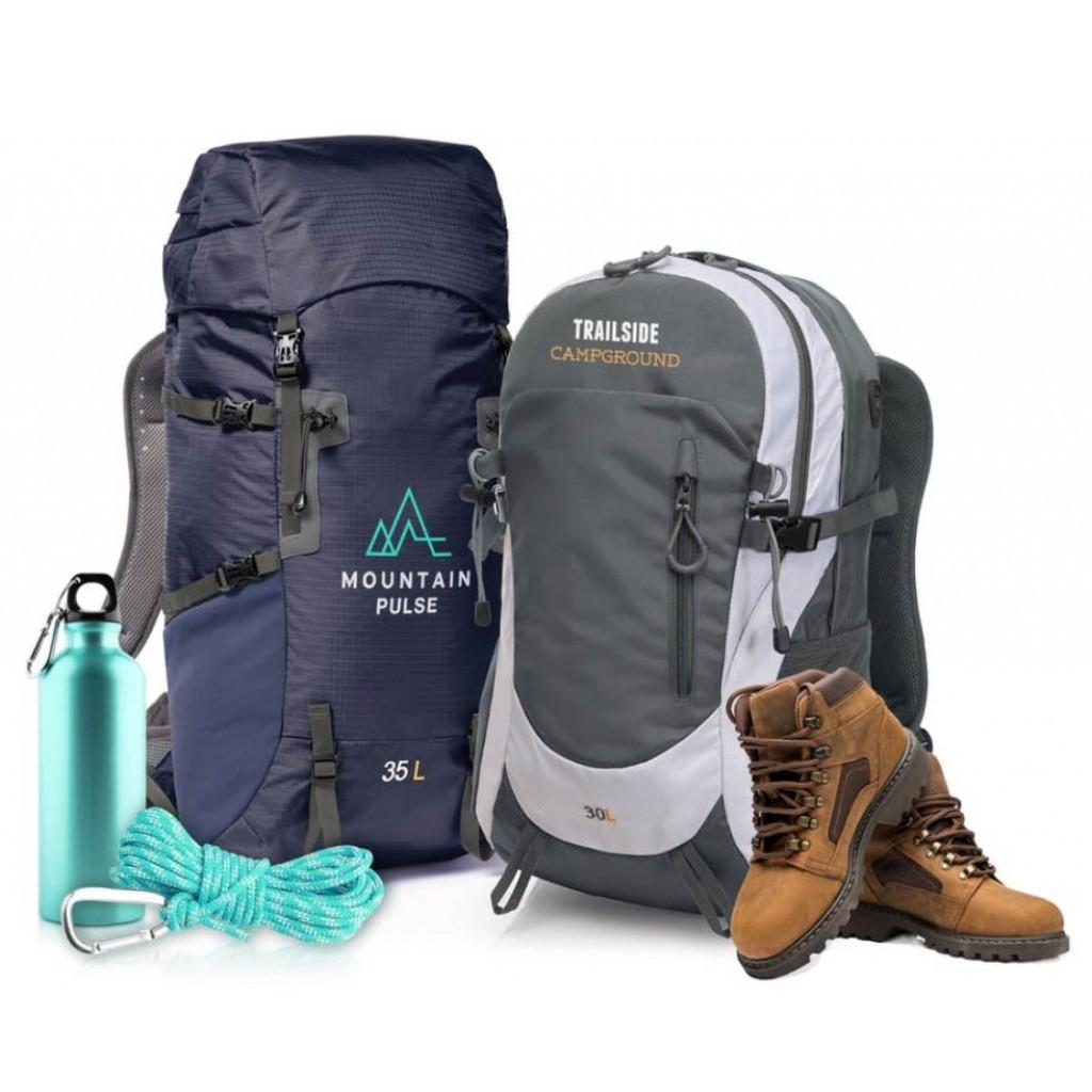 Rucksack Trail mit Werbung