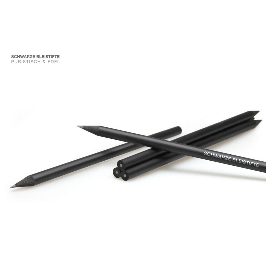 Bleistift schwarz durchgefärbt