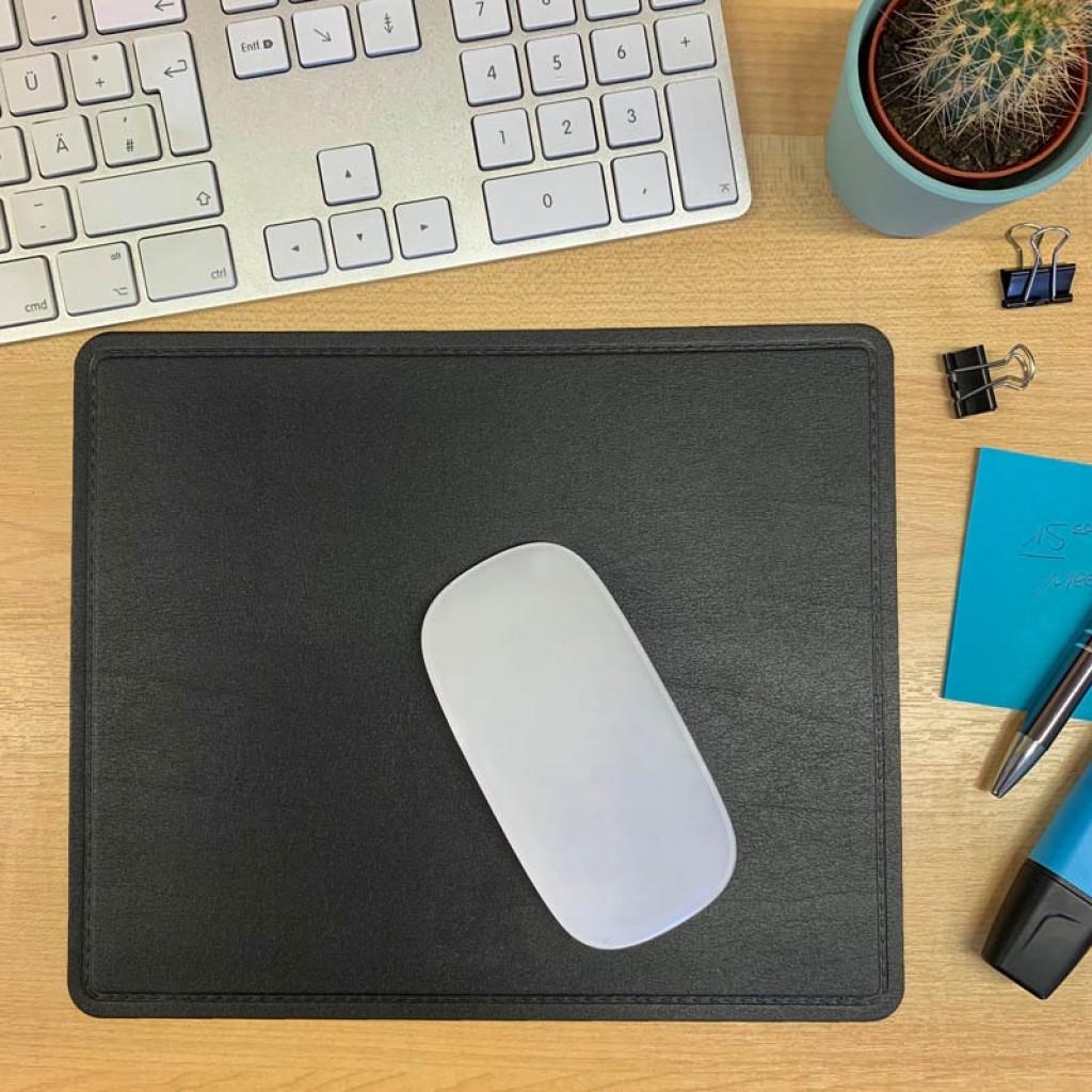 Mousepad Recycling-Leder