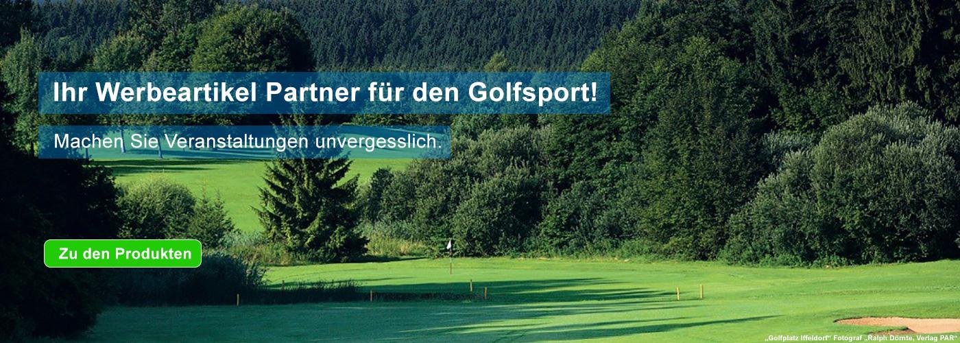 Werbeartikel Golfen